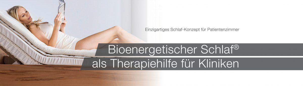Bioenergetischer Schlaf als Therapiehilfe für Kliniken